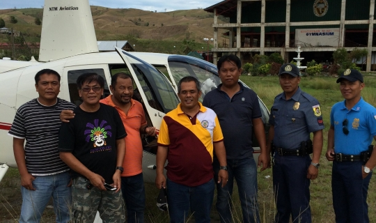 NTM Aviation Helicopter Provides Philippine Typhoon Relief